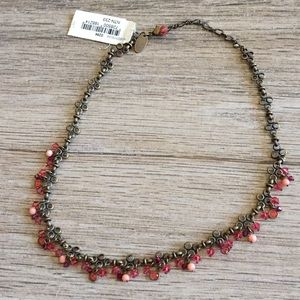 Liz palacios pink crystal necklace